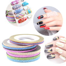 DIY Pro 12 Different Colors Choice Matte Nail Striping Tape Line Nail Art Adhesive Decal Decoration Size 1mm/2mm/3mm
