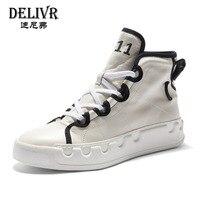 Delivr Genuine Leather Boots Men White High Top Martin Boot Men Shoes Luxury Brand Formal Shoes Men Fashion Winter Shoes Men