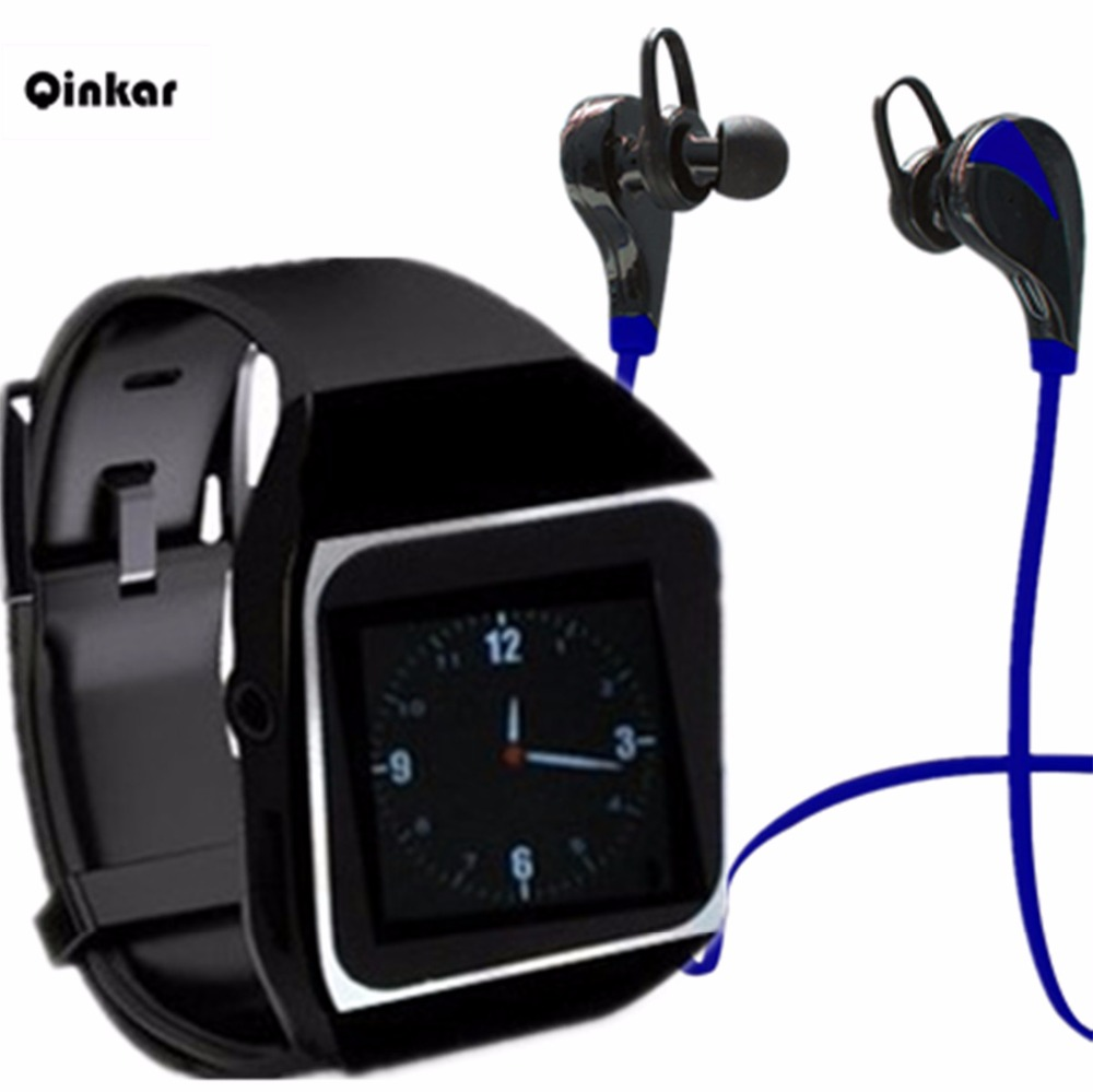 buy qinkar 8gb watch mp3 player bluetooth. Black Bedroom Furniture Sets. Home Design Ideas