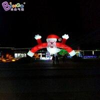 Надувная Рождественская АРКА, 12 м наружный надувной Рождественский Санта Клаус АРКА, Гигантский Рождественский Санта Клаус игрушка