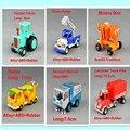 6 шт. / lot -- кривая обучения игрушка боб строитель металлические строительных машин модели для детей рождественские подарки