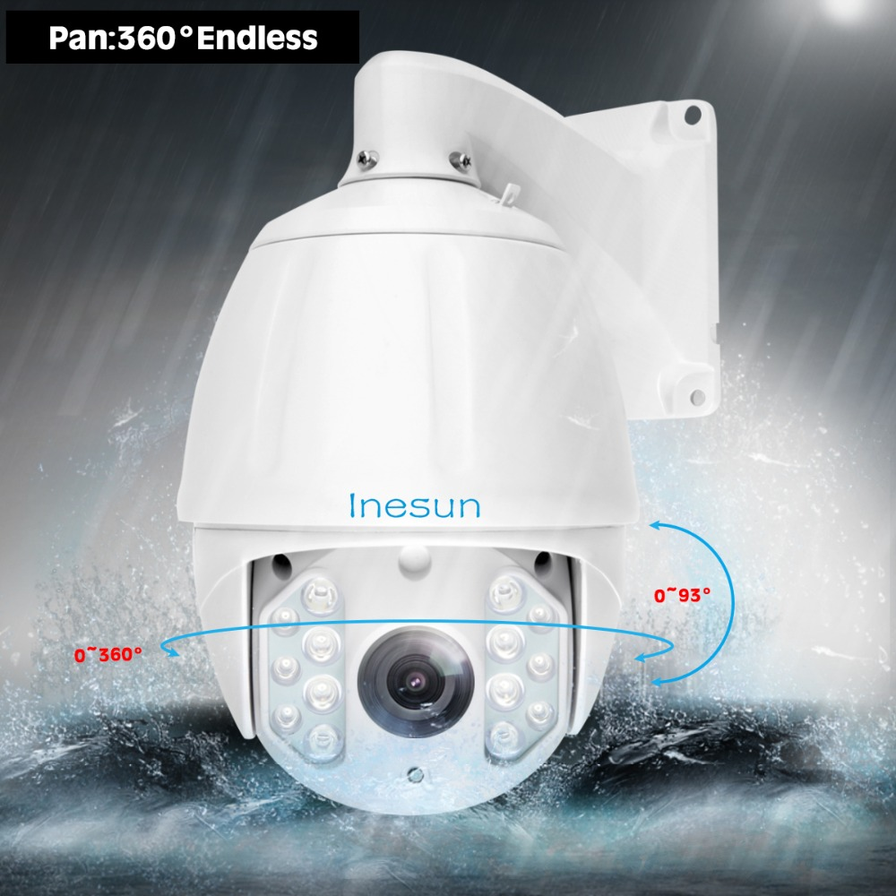 Image 3 - Inesun Outdoor PTZ IP Camera 2MP 5MP Super HD 2592x1944 30X Zoom PTZ Camera Waterproof High Speed Dome Cam 500ft IR Night Vision-in Surveillance Cameras from Security & Protection
