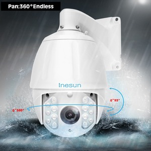 Image 3 - Inesun PTZ IP Камера 2MP 5MP Super HD 2592x1944 30X зум 7 дюймовый открытый Водонепроницаемый Скорость купол Cam ИК Ночное видение до 500ft