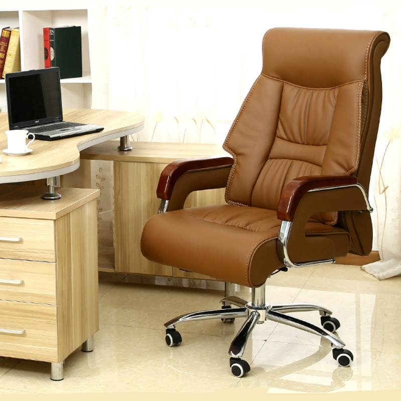 Luxury High-end Synthetic Leather Boss Chair Ergonomic Computer Office Executive Chair Lift Swivel Chair Office Chair Seat