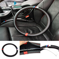 Anti-slip 38CM Car Styling Steering Wheel  Sports Cover Interior Decor for BMW X1 X3 X5 X6 E36 E39 E46 E30 E60 E90 E92
