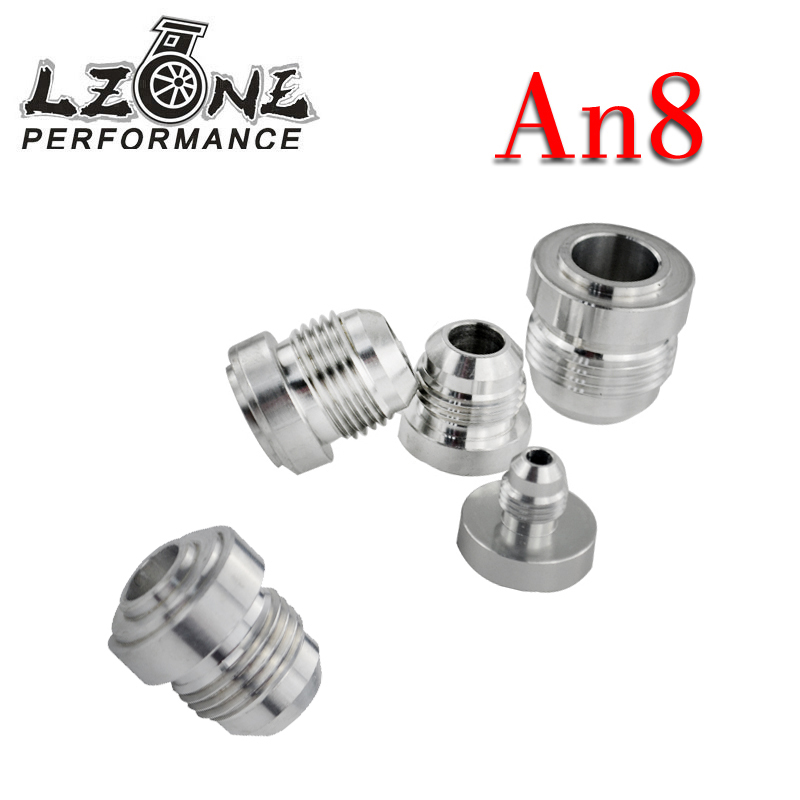 Top Quality Aluminum An8 Learned Lzone an Straight Male Weld Fitting Adapter Weld Bung Nitrous Hose Fitting Silver Jr-sl617-7208