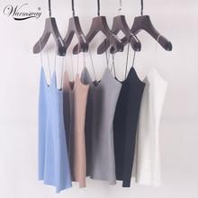 Спагетти roupas femininas базы майки вязать крючком рукавов эластичный ремень лето
