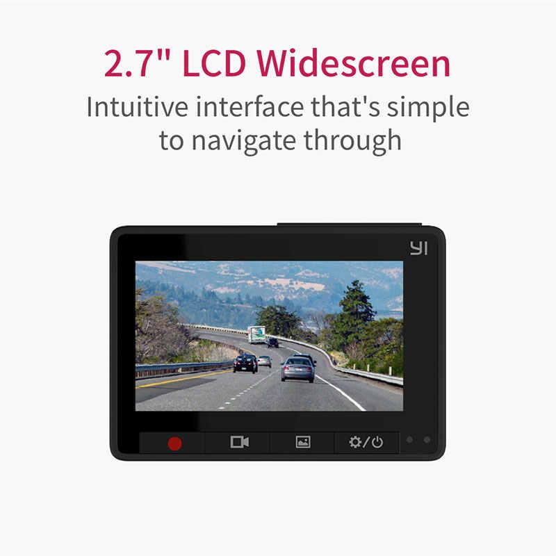 Автомобильный видеорегистратор YI Compact Dash Camera 1080P FHD Wi-Fi Разрешение 2.7K Широкий угол обзора 130° g-Сенсор Ночное видение