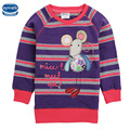 20162016 newest design Nova Brand kids clothes children clothes long sleeve with mouse pattern embroidery  girl t-shirt