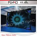 color changeable P9 pixel cloth led dj background screen curtain indoor 3x5m flexible bar display curtain