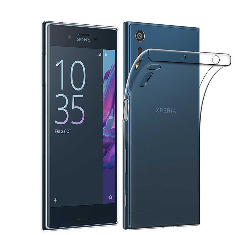 Przezroczysta silikonowa obudowa na telefon tpu dla Sony Xperia Z1 Z2 Z3 Z5 kompaktowy X XA XA1 XA2 ultra xz XZ1 XZS XZ2 XZ3 L1 L2 L3 1 10 Plus okładka