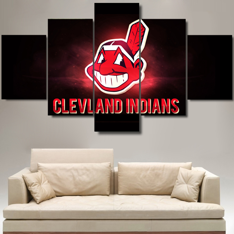 Wall Art Picture Modern Home Decor Living Room Or Bedroom Canvas Print 5 Panel Baseball Sports