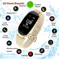 S3 Bluetooth Smart Watch Waterproof Heart Rate Monitor Smart Wristband Women Sport Watch for Android IOS reloj inteligente mujer