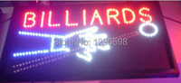 2017 direct selling custom led sign 10x19 Inch Semi outdoor Ultra Bright flashing billards store business signboard