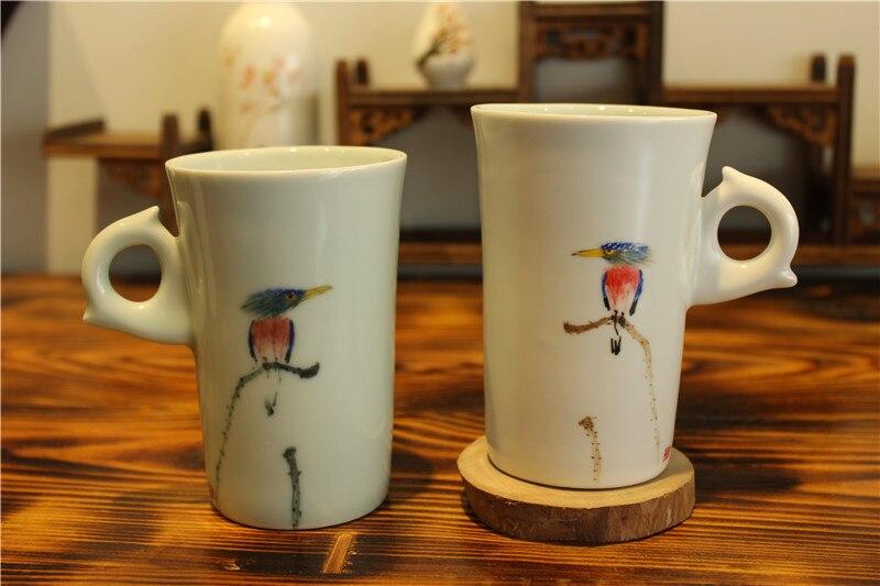 drinkware porcelāns balta keramika zakka tējas krūze krūze - Virtuve, ēdināšana un bārs - Foto 5