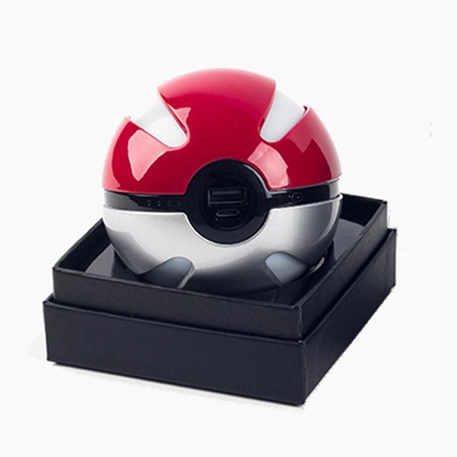 10000 mah Carregador Banco Do Poder Personalizado Presente de Natal Jogo Pokeball pokébola de Pokemons Ir Além de Powerbank Móvel De Brinquedo de Pelúcia banco