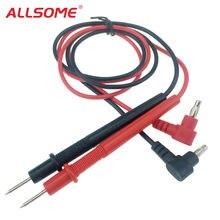 Multímetro digital ponta da agulha, allalguns pontas de prova de ponta de prova universal pin para multímetro testador ponta de prova de chumbo fio caneta cabo 10a