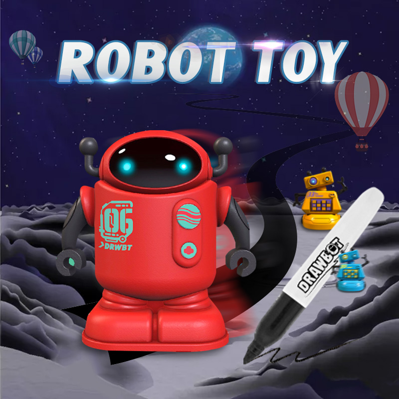 New Novelty toys HeLICMax Draw Line Robot Drawbot Robot line tracking Gibbi Planet Programming Accompany Toys for Children Gift image