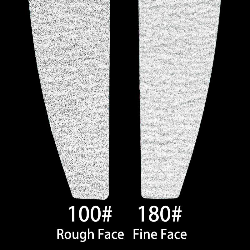 5 pcs/lot Sandpaper Nail File Lime 100/180 Double Side Sanding Buffer Block Set Grey Nail Files For UV Gel Polish Manicure Tool 2