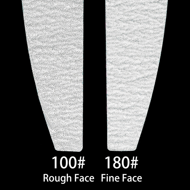 5 pcs/lot Sandpaper Nail File Lime 100/180 Double Side Sanding Buffer Block Set Grey Nail Files For UV Gel Polish Manicure Tool 2