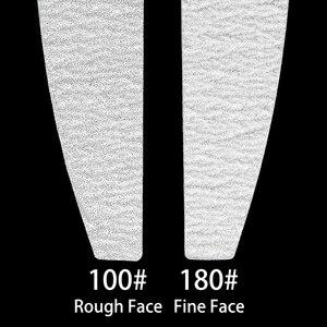 Image 2 - 5 יח\חבילה נייר זכוכית סיד 100/180 כפול צד מלטש חיץ בלוק סט גריי קבצי ציפורניים UV ג ל פולני מניקור כלי