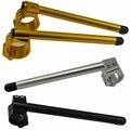 2x manillar universal de moto pinzas ajustables de carreras de CNC35/37/41/45/46MM elevador de manillar manillar la moto del café carrera
