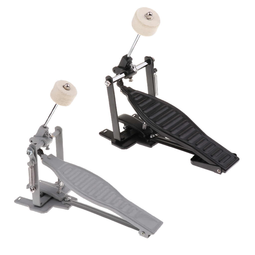 Single Foot Pedal With Drum Wool Beater Single Chain Drive Adjustable Stroke And Tension For Children Drum Lovers