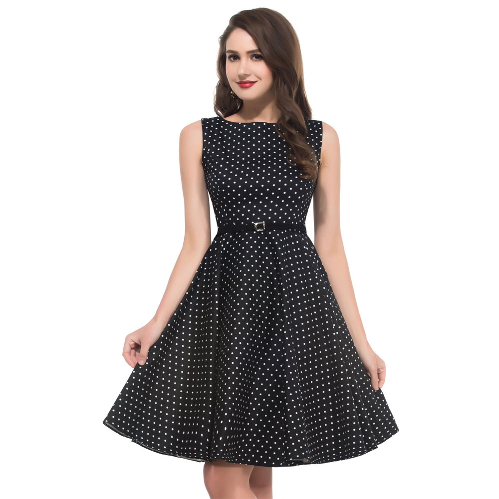 f7b81b78e2133 Women Summer Dress 2018 plus size clothing Audrey hepburn Floral robe Retro  Swing Casual 50s Vintage Rockabilly Dresses Vestidos
