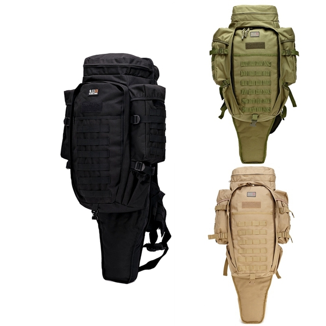 2aad27f6458c Multi Military Tactical Rifle Backpack Solid Nylon wearproof Outdoor Sport  Hiking backpack 60L Molle Outdoor Training Bag