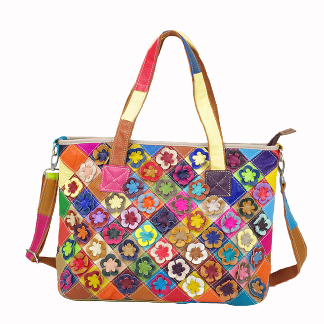 Caerlif Woman Bags Fashion Handbags High Quality Real Leather Patchwork Multi Colored Shoulder Luxury