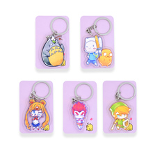 Totoro Sailor Moon Key Chians Chibi Adventure Time  Cartoon Keyrings  Double Sided  Cute Anime Acrylic Keychain Accessories
