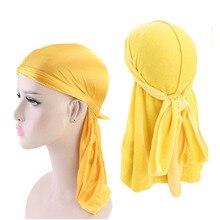 Unisex Velvet and Silky Durag 2pcs Set Headwrap