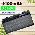 4400mAh  laptop battery  for Asus  A32-X51  90-NQK1B1000Y A32-T12  T12Fg T12Ug   X51C  X51H  X51L  X51R  X51RL