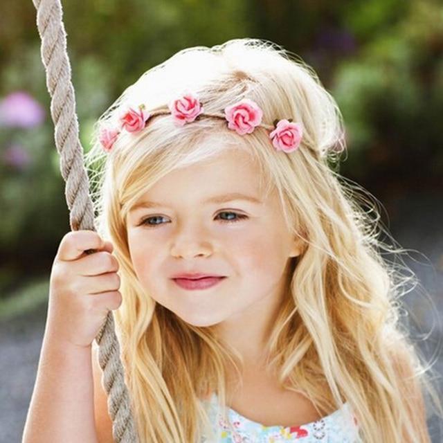 Newborn Flower Headband Mini Rose Flowers Headbands Summer