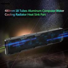 Sistema de enfriamiento de agua VODOOL 480 mm y 18 tubos de aluminio para Pc, radiador disipador de calor