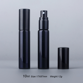100Pieces/Lot 10ML Portable UV Glass Refillable Perfume Bottle With Aluminum Atomizer Spray Bottles Sample Empty Containers