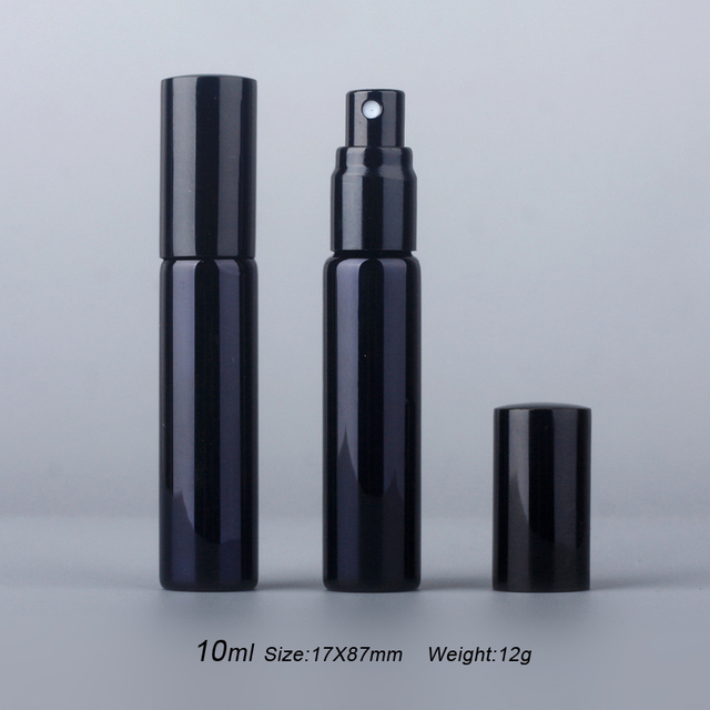 100Pieces/Lot 10ML Portable UV Glass Refillable Perfume Bottle With Aluminum Atomizer Spray Bottles Sample Empty Containers 2