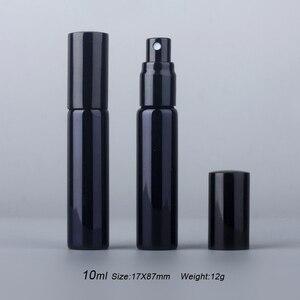 Image 2 - 100 יח\חבילה 10ML נייד UV זכוכית Refillable בושם בקבוק עם אלומיניום מרסס ספריי בקבוקי מדגם ריק מכולות