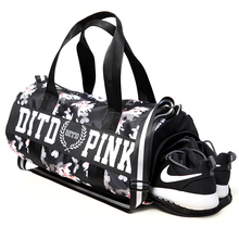 2017 Pink/gray/black Women Men Gym Bag Fitness Shoulder Gird Strip Travel Bag Outdoor Yoga Bag With Shoes Storage Sac De Sport