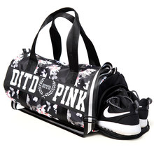 2017 Pink/gray/black Women Men Gym Bag Fitness Shoulder Gird Strip Travel Bag Outdoor Yoga Bag With Shoes Storage Sac De Sport(China)