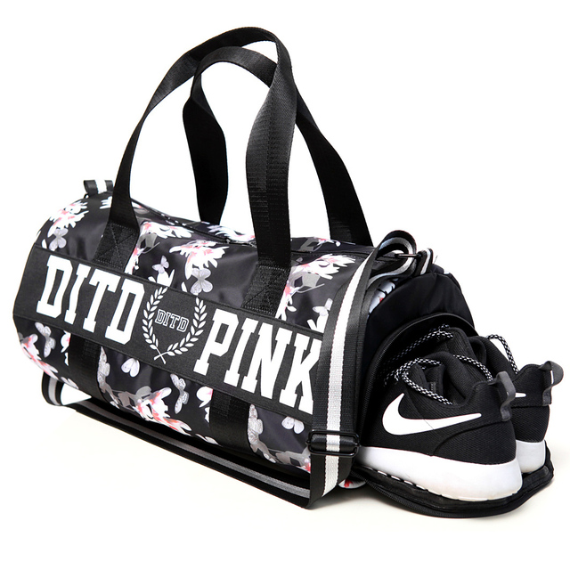 2018 Pink/gray/black Women Men Gym Bag Fitness Shoulder Gird Strip Travel Bag Outdoor Yoga Bag With Shoes Storage Sac De Sport