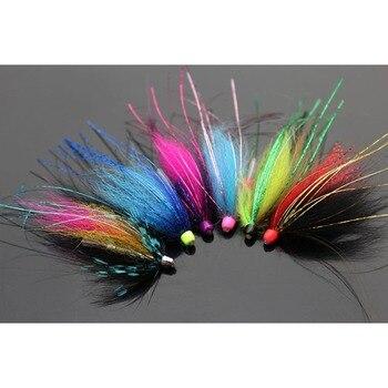 цена на Tigofly 12 pcs/lot Assorted Colorful Copper Cone Head Tube Fly Set For Salmon Trout Steelhead Fly Fishing Flies Lures Set