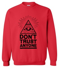 2017 hoodies men sweatshirt spring winter Dont Trust Anyone Illuminati All Seeing Eye printed fashion cool men's sportwear kpop