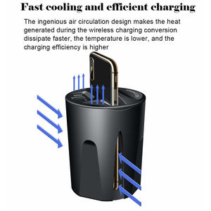 Image 5 - 696 X9 QI Car Wireless fast Charger cup for iphone Charge holder Charge Stand for Apple XS MAX/XR/X/8 PLUS for samsung note10/9