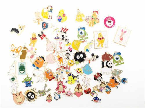 lot Princess mickey Minnie Charm Necklace Bracelet Earrings Pendants Key DIY
