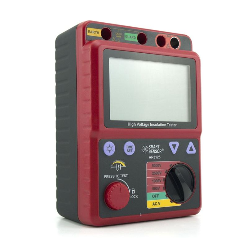 Smart Sensor AR3125 500~5000V Megohmmeter High Voltage Insulation Resistance Tester Megger