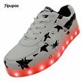 7ipupas 2016 11 Color luminous shoes Lovers couple LED glow shoe men&Unisex New USB rechargeable light led shoes for adult sport