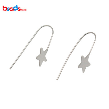 Beadsnice 925 Sterling Silver Large Ear Wires Handmade Long Earwires Findings Silver Earrings Supplies ID34925