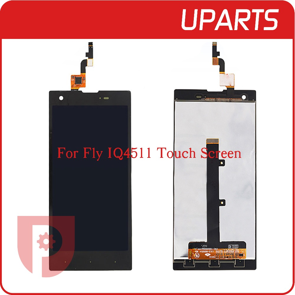 A+ High Quality For Fly IQ4511 LCD Display + Touch Screen Assembly LCD Digitizer Glass Panel Replacement Free Shipping