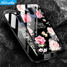 Advaka Luxury Back Glass Cover Case For Samsung Galaxy S9 S8 Plus Tempered Glass Phone Cases For Samsung Note 8 S8 S9 Note9 Case(China)